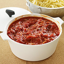 Image of tomato sauce with ground beef