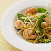 Image of  Shrimp and Snow Peas in Orange Sauce