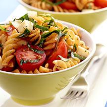 Tomato Basil and Smoked Mozzarella Pasta Salad