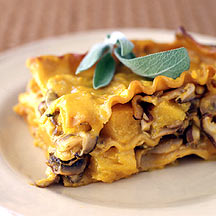 Butter nut Squash Sage and Mushroom Casserole