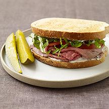 Image of Roast Beef Sandwiches with Horseradish Mayo