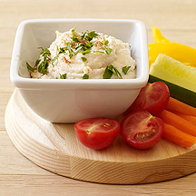 image of Crudites with Garlicky White Bean Dip
