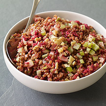 Image of  Warm Apple Walnut Wheat Berry Salad