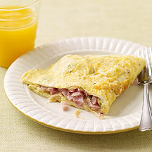 Image of ham and cheese omelet