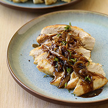 Image of Chicken with Balsamic Vinegar, Sweet Onions and Thyme