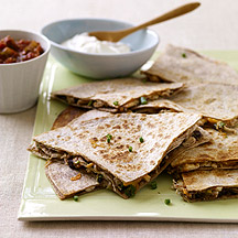 Image of chicken and cheese quesadillas
