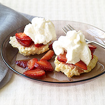 Image of  Strawberry Shortcake with Strawberry Sauce