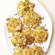 Tomillo y Scallion Potato Pancakes
