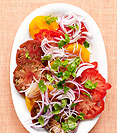 Heirloom Tomato and Basil Platter