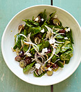 Image of   Spinach Salad with Goat Cheese, Cherries  and Honey Mustard Dressing