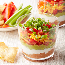 Mini Mexican Layer Dips