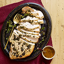 Image of Herbed Turkey Breast with Wine Sauce