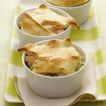 Individual Creamy Chicken Pot Pies
