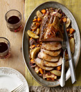 Cider Glazed Roast Pork with Apples, Sweet Potato, and Sage