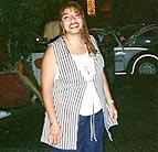 Claudia smiling
